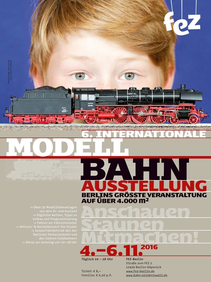 Plakatwerbung – Modellbahnausstellung